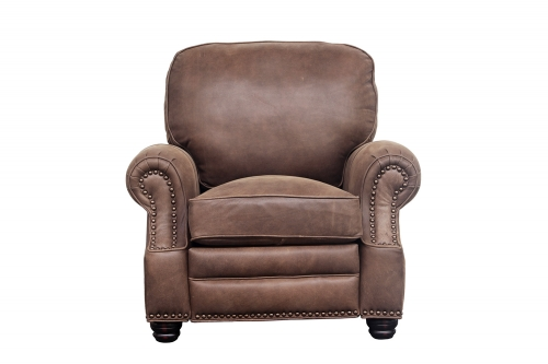 Longhorn Recliner Chair - Sanded Dark Bomber/Top Grain Leather