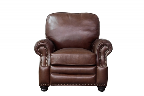 Longhorn Recliner Chair - Shoreham Chocolate/All Leather
