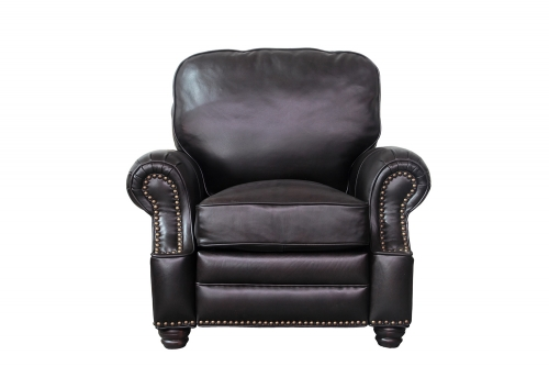 Longhorn Recliner Chair - Shoreham Fudge/All Leather