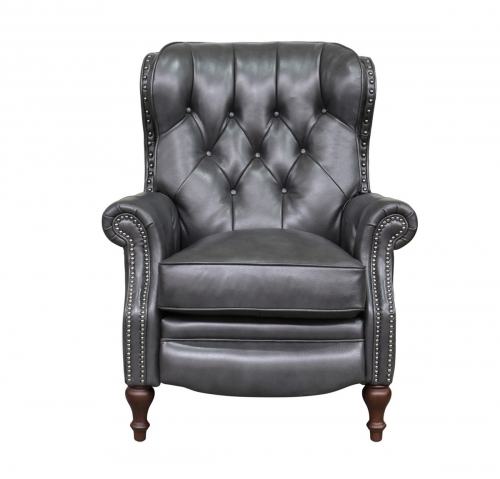 Kendall Recliner Chair - Wrenn Gray/all leather