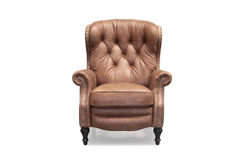 KendAll Recliner Chair - Sanded Bomber/All top grain Leather