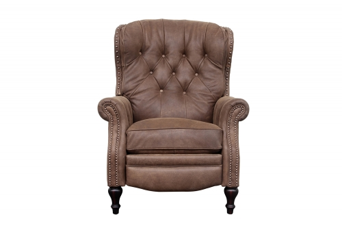 KendAll Recliner Chair - Sanded Dark Bomber/Top Grain Leather
