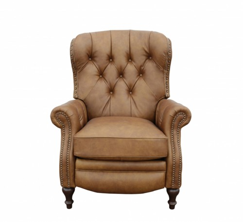 Kendall Recliner Chair - Rustic Bourbon/All Top Rain Leather