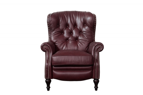 KendAll Recliner Chair - Shoreham Wine/All Leather