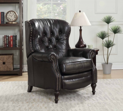KendAll Recliner Chair - Shoreham Fudge/All Leather