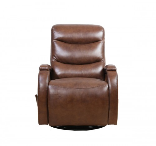 Jonas Swivel Glider Recliner Chair - Wenlock Double Chocolate/Leather Match