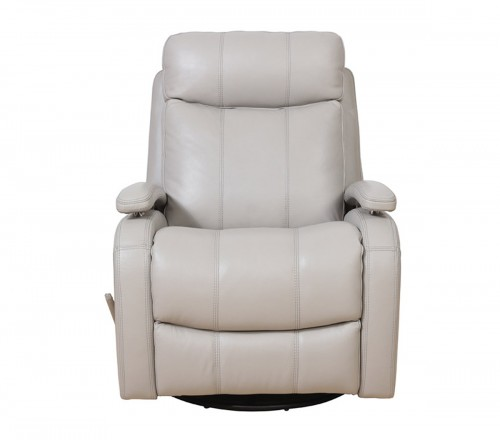 Duffy Swivel Glider Recliner Chair - Gable Dove/Leather Match