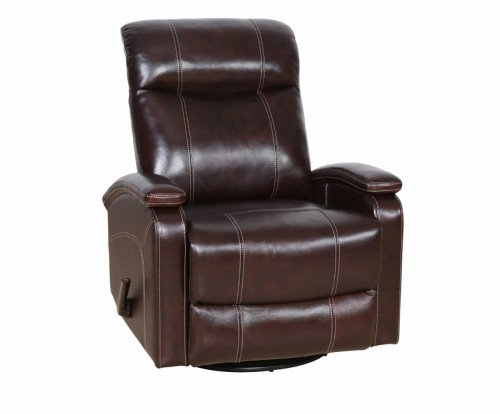 Davington Swivel Glider Recliner Chair - Ryegate Raisin/Leather Match
