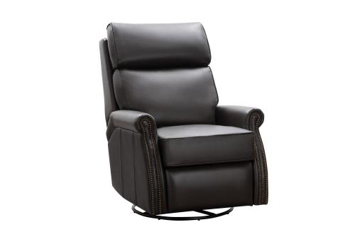 Crews Swivel Glider Recliner Chair - Bennington Chestnut/All Leather