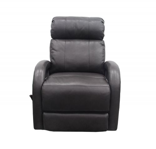 Harvey Swivel Glider Recliner Chair - Wrenn Gray/All Leather
