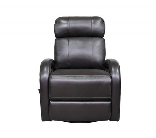 Harvey Swivel Glider Recliner Chair - Shoreham Fudge/all leather