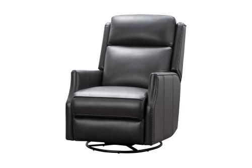 Cavill Swivel Glider Recliner Chair with Power Recline and Power Head Rest - Shoreham Gray/All Leather