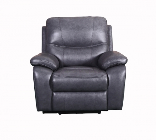 Carter Power Recliner Chair - Toby Gray/Leather Match