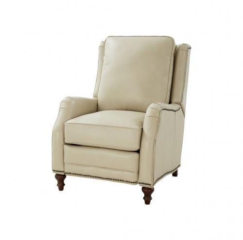 Huntington Power Recliner Chair - Barone Parchment/All Leather
