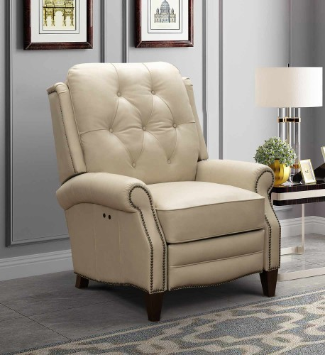 Ava Power Recliner Chair - Shoreham Cream/All Leather