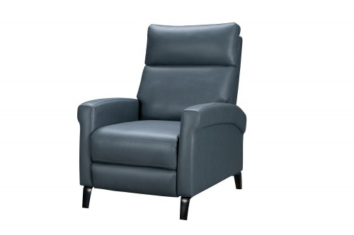 Simon Power Recliner Chair with Power Head Rest - Masen Bluegray/Leather Match