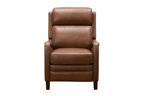 Barcalounger Williamson Power Recliner Chair with Power Head Rest - Bennington Saddle/All Leather