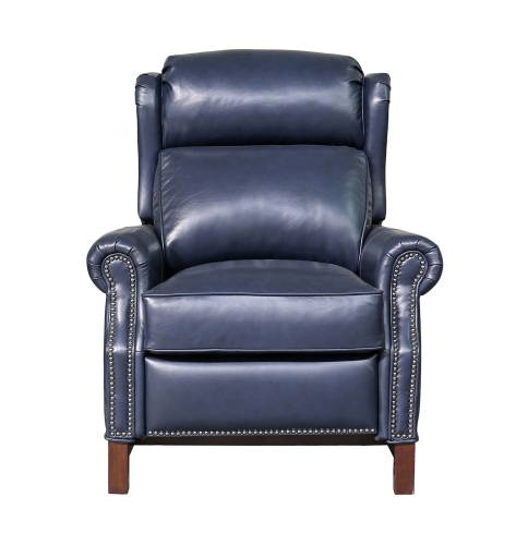 Thornfield Power Recliner Chair with Power Head Rest - Shoreham Blue/All Leather