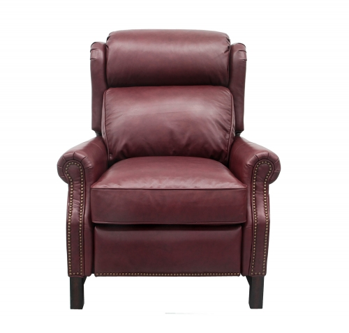 Thornfield Power Recliner Chair with Power Head Rest - Shoreham Wine/All Leather