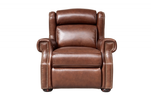 Benwick Power Recliner Chair with Power Head Rest - Shoreham Chocolate/All Leather