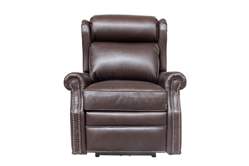 Southington Power Recliner Chair with Power Head Rest - Shoreham Dark Umber/All Leather