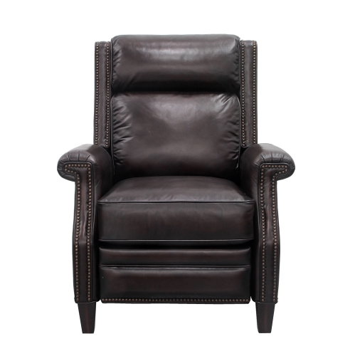 Barrett Power Recliner Chair with Power Headrest - Stetson Coffee/All Leather