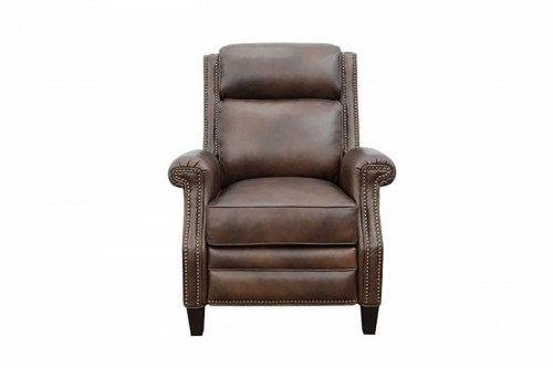 Barrett Power Recliner Chair with Power Head Rest - Worthington Cognac/All Leather