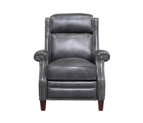Barrett Power Recliner Chair with Power Head Rest - Wrenn Gray/all leather