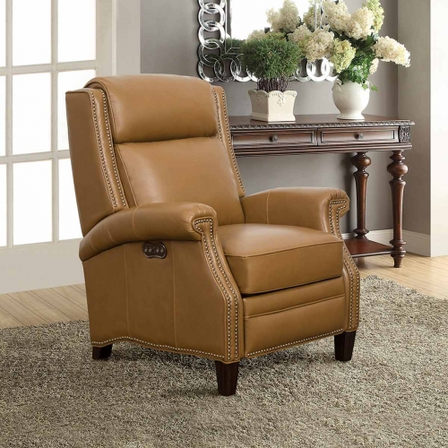 Barrett Power Recliner Chair with Power Headrest - Shoreham Ponytail/All Leather