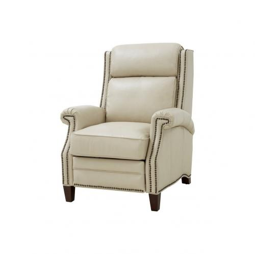 Barrett Power Recliner Chair with Power Head Rest - Barone Parchment/All Leather