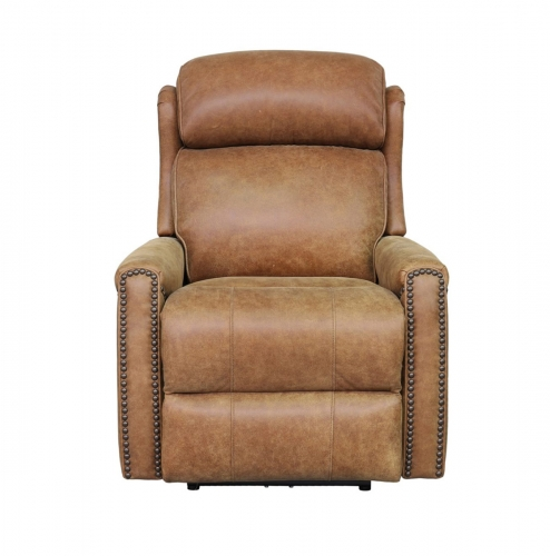 Montana Power Recliner Chair with Power Head Rest - Sanded Bomber/all leather