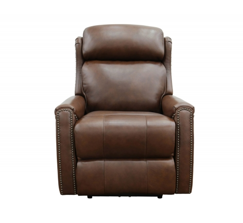 Montana Power Recliner Chair with Power Head Rest - Shoreham Chocolate/all leather