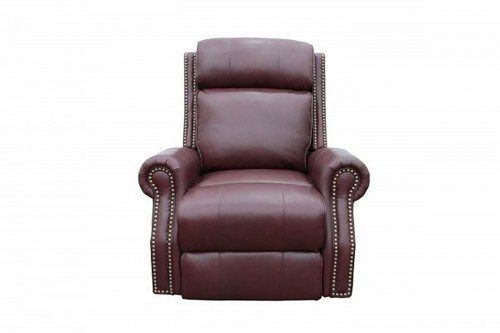 Blair Big and Tall Power Recliner Chair with Power Head Rest - Shoreham Wine/All Leather