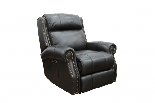 Blair Big and Tall Power Recliner Chair with Power Head Rest - Shoreham Fudge/all leather
