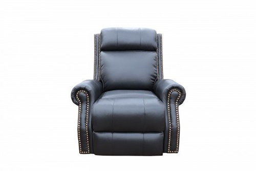 Blair Big and Tall Power Recliner Chair with Power Head Rest - Wenlock Onyx/All Leather
