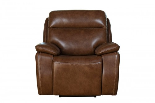 Micah Power Recliner Chair with Power Head Rest - Misha Chestnut/Leather Match