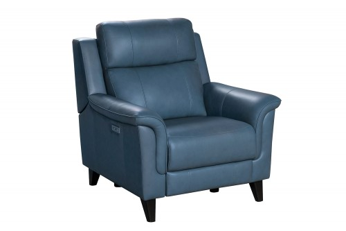 Kester Power Recliner Chair with Power Head Rest - Masen Bluegray/Leather match