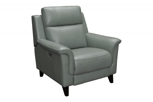 Kester Power Recliner Chair with Power Head Rest - Lorenzo Mint/Leather match