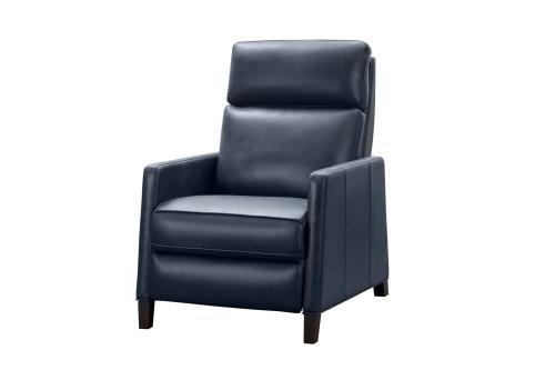 James Zero Gravity Power Recliner Chair with Power Head Rest and Lumbar - Barone Navy Blue/All Leather