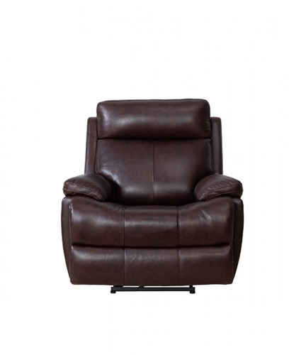 Bryce Power Recliner Chair with Power Head Rest and Lumbar - Ryegate Fudge/Leather Match