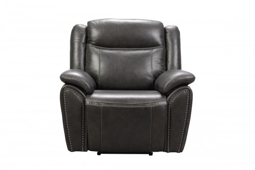 Holbrook Power Recliner Chair with Power Head Rest and Lumbar - Venzia Grey/Leather Match