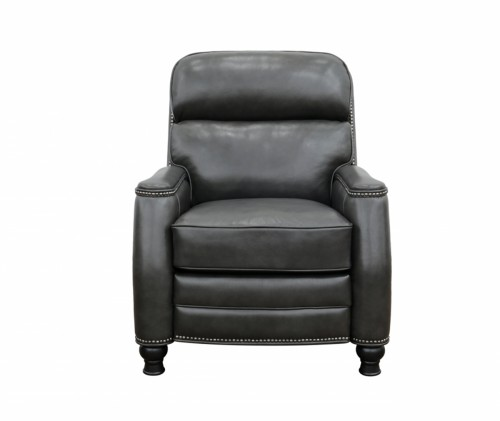 Townsend Power Recliner Chair with Power Head Rest and Lumbar - Wrenn Grey/All Leather