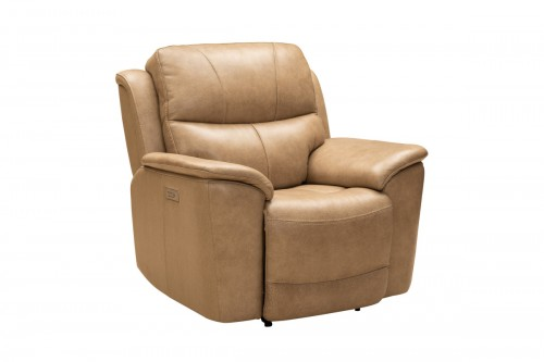 Kaden Power Recliner Chair with Power Head Rest and Lumbar - Elliott Taupe/Leather Match