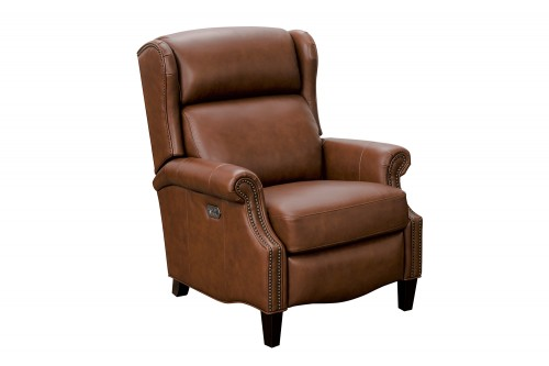 Philadelphia Power Recliner Chair with Power Head Rest and Lumbar - Ashford Bitters/All Leather