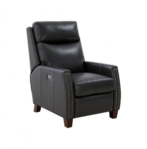 Anaheim Big and Tall Power Recliner Chair with Power Head Rest and Lumbar - Shoreham Gray/All Leather