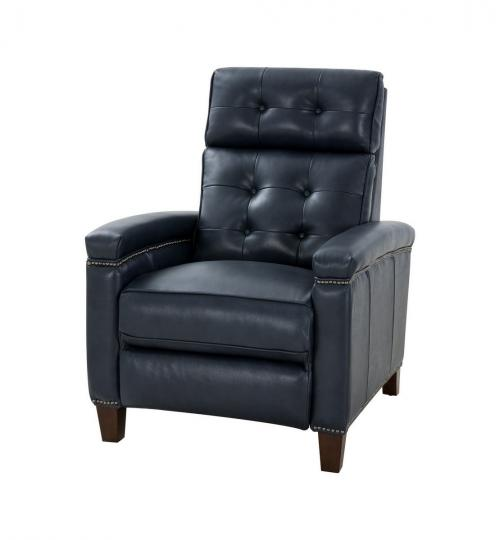 Jamey Zero Gravity Power Recliner Chair with Power Head Rest and Lumbar - Barone Navy Blue/All Leather