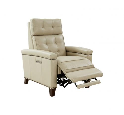 Jamey Zero Gravity Power Recliner Chair with Power Head Rest and Lumbar - Barone Parchment/All Leather