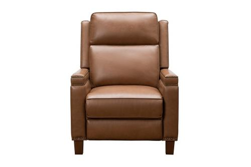 Smithfield Big and Tall Power Recliner Chair with Power Head Rest and Lumbar - Bennington Saddle/All Leather