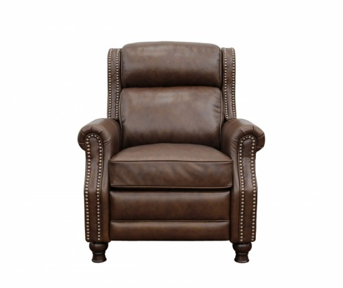 Montview Voice Activated Power Recliner Chair with Power Head Rest - Wenlock Double Chocolate/All Leather