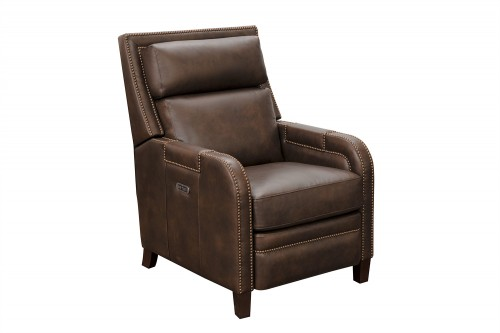 Cambridge Voice Activated Power Recliner Chair with Power Head Rest - Ashford Walnut/All Leather